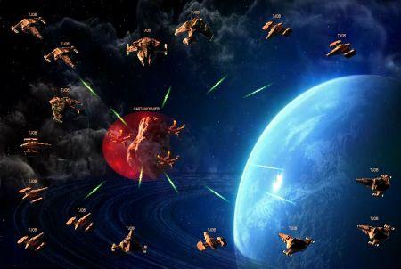 bei Mega Space Game unter Beschuss