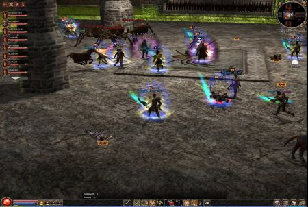 Kampfszene aus dem Browsergame Metin 2