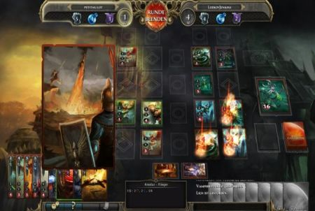 verschiedene Spielkarten bei Might and Magic: Duels of Champions