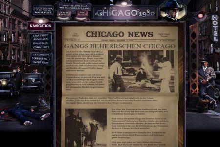 Zeitungsartikel bei Chicago 1920