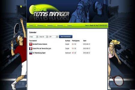 Veranstaltungskalender bei Online Tennis Manager