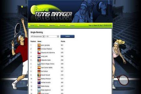 Weltrangliste im Tennis Browsergame