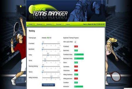 Training bei Online Tennis Manager