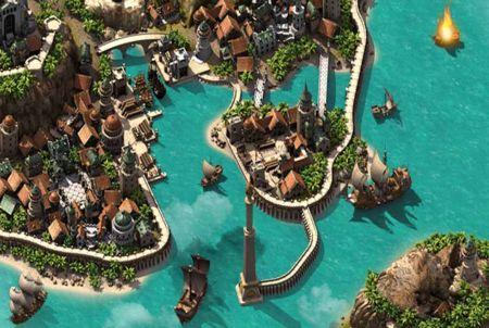 So sieht ein Hafen bei Pirate Storm aus