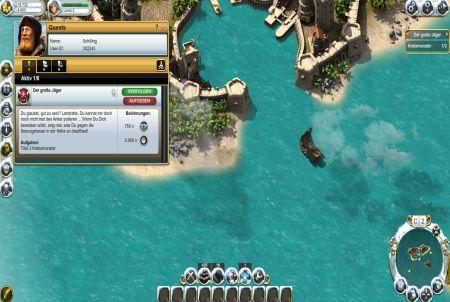 Hafeneinfahrt aus dem Browsergame Pirate Storm