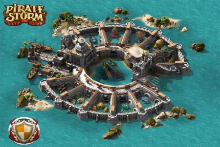 Inselstaat aus dem Browsergame Pirate Storm