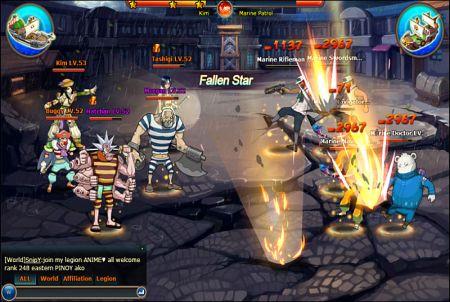Allianzkampf aus dem Browsergame Pockie Pirates