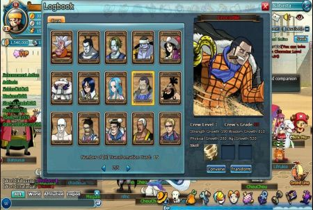 Charaktere aus Pockie Pirates