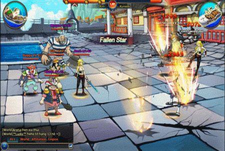 Kampfszene aus dem Browsergame Pockie Pirates