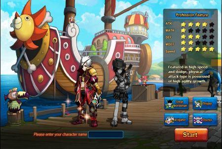 Charakterauswahl bei Pockie Pirates