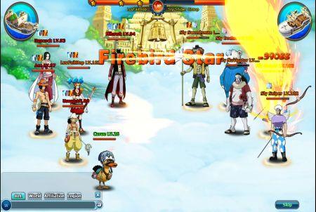 verschiedene Charaktere aus dem Browsergame Pockie Pirates
