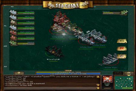 Flotte aus dem Browsergame Seafight
