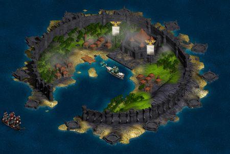 Seafight Festung auf einer Insel