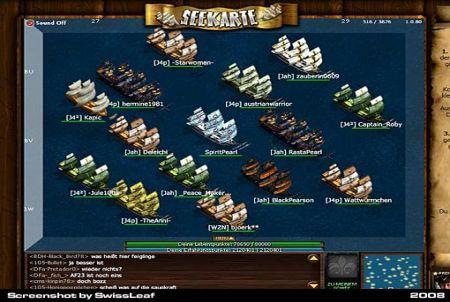 gigantische Flotte bei Seafight