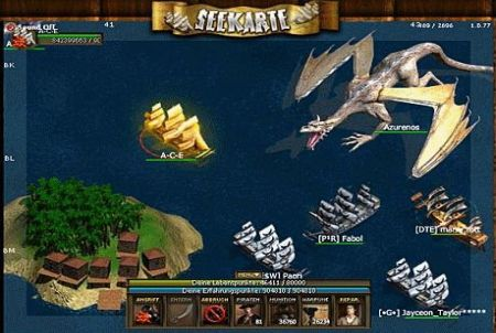 grausames Ungeheuer aus dem Browsergame Seafight