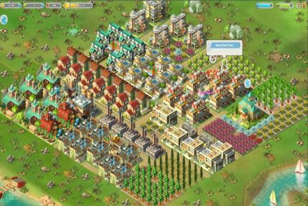 wachsende Stadt aus dem Browsergame Rising Cities
