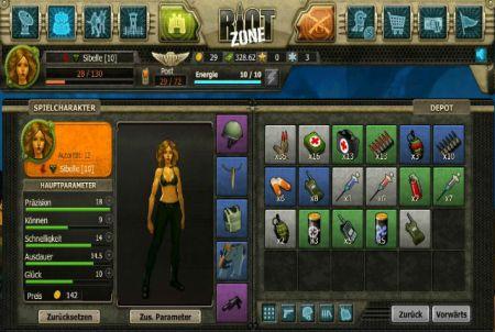 Charakter aus Riot Zone