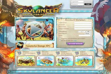 Anmeldung zum Browsergame Skylancer