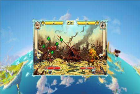 Kampfszene aus dem Browsergame Skylancer