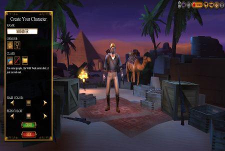 Charakterwahl bei The Mummy Online