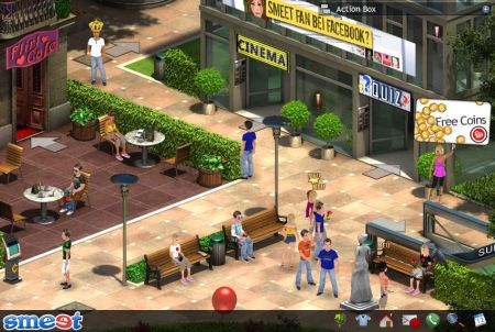 Stadtzentrum im Browsergame Smeet