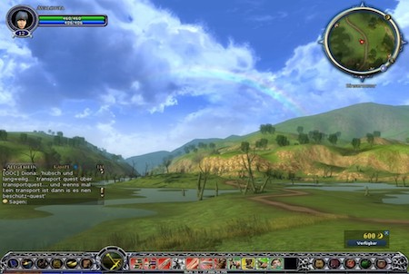 Landschaft aus Der Herr der Ringe Online