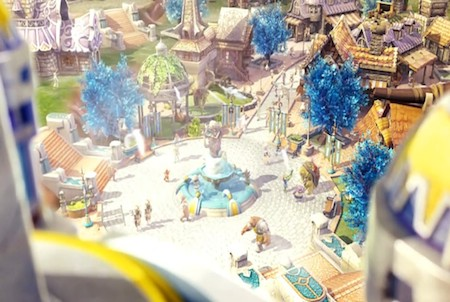 Dorfplatz bei Eden Eternal