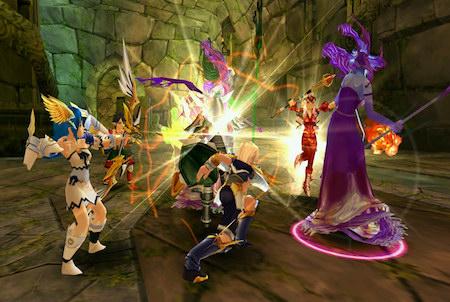 Teamfight bei Fiesta Online