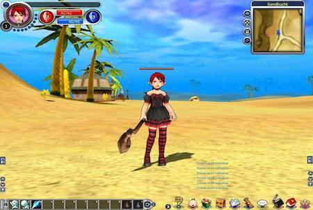 weiblicher Charakter aus Fiesta Online