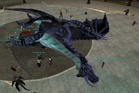 erlegter Drache aus dem Downloadgame Everquest