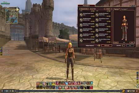 Marktplatz aus dem Downloadgame Everquest