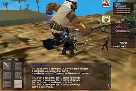 gigantisches Sandlebewesen aus dem Downloadgame Everquest