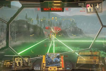 Cockpit eines Mechs bei MechWarrior Online