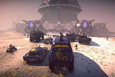 Fahrzeuge aus dem Game Planetside 2