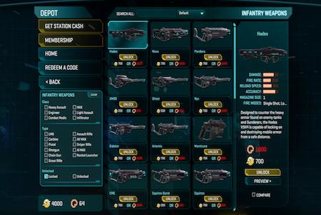 Waffendepot aus dem Game Planetside 2
