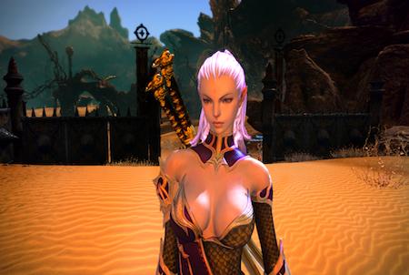 Spielfigur aus dem Download Tera