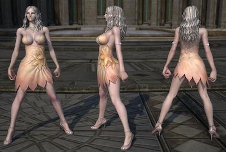 weiblicher Charakter aus dem Game Tera