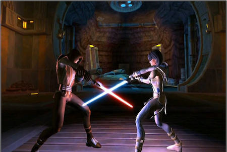 Star Wars The Old Republic Kampf mit Laserschwerten