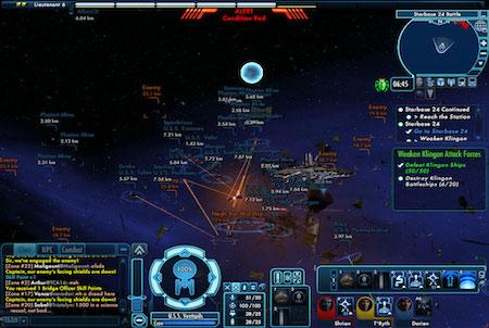 Star Trek Online intergalaktische Kampfszene